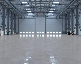 3D asset Airplane Hangar Interior 3