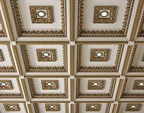 Decorative Ceiling Tile 3D model cnc