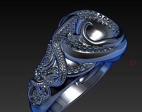 3D printable model tentacles Octopus ring