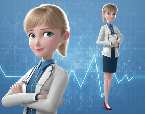 3D Cartoon Doctor Rigged