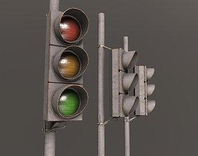 3D model Traffic light architectural