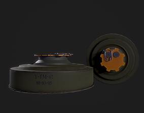 3D model Soviet anti-tank mine TM-62M
