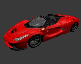 3D asset Ferrari Aperta Model OBJ and blend file