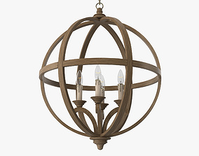 Currey and Company - Axel orb chandelier 3D model