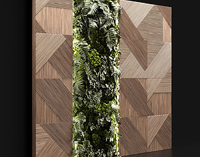 3D Wooden panels and vertical garden 2