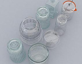 3D Glassware Set