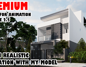 3D Sketchup enscape exterior and interior ready for