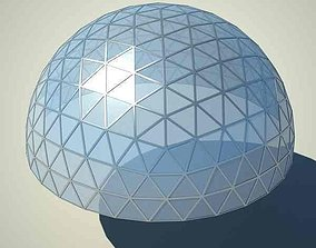 3D model Metallic structure truss 08 Dome