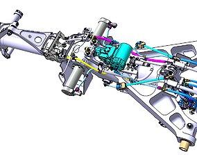 3D Detailed FRONT LANDING GEAR