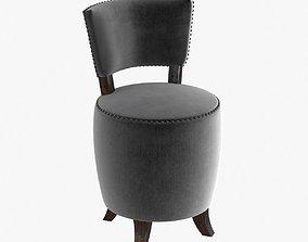 3D Small round velvet chair for bedroom