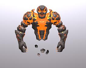 Fire Spirit Elemental 3D model animated