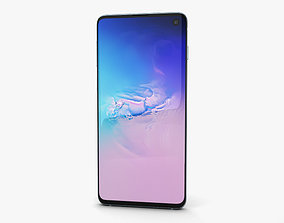 3D model Samsung Galaxy S10 Prism Blue