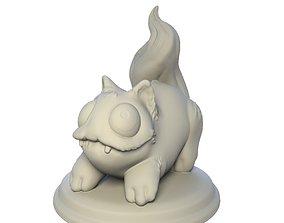 3D printable model Desktop figure Playful cat