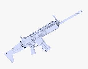 3D model FN SCAR-L Assault Rifle