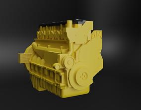 Caterpillar C7 Engine 3D asset