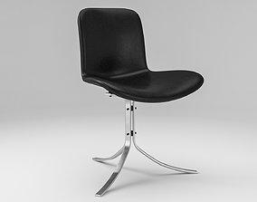 Fritz Hansen PK-9 Tulip chair 3D asset