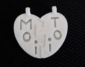 pendentif coeur detachable 3D printable model
