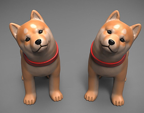 3D printable model cute Shiba inu OBJ STL and VRML