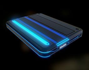 3D model External Hard Drive Low Poly Futuristic - 2