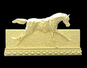 3D printable model Galloping Horse in reliefs