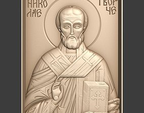 Orthodox Christian Icon of Saint Nicholas 3D print model
