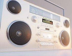 boombox vintage cassete player 3D model