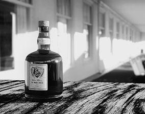 A bottle of good rum 3D model