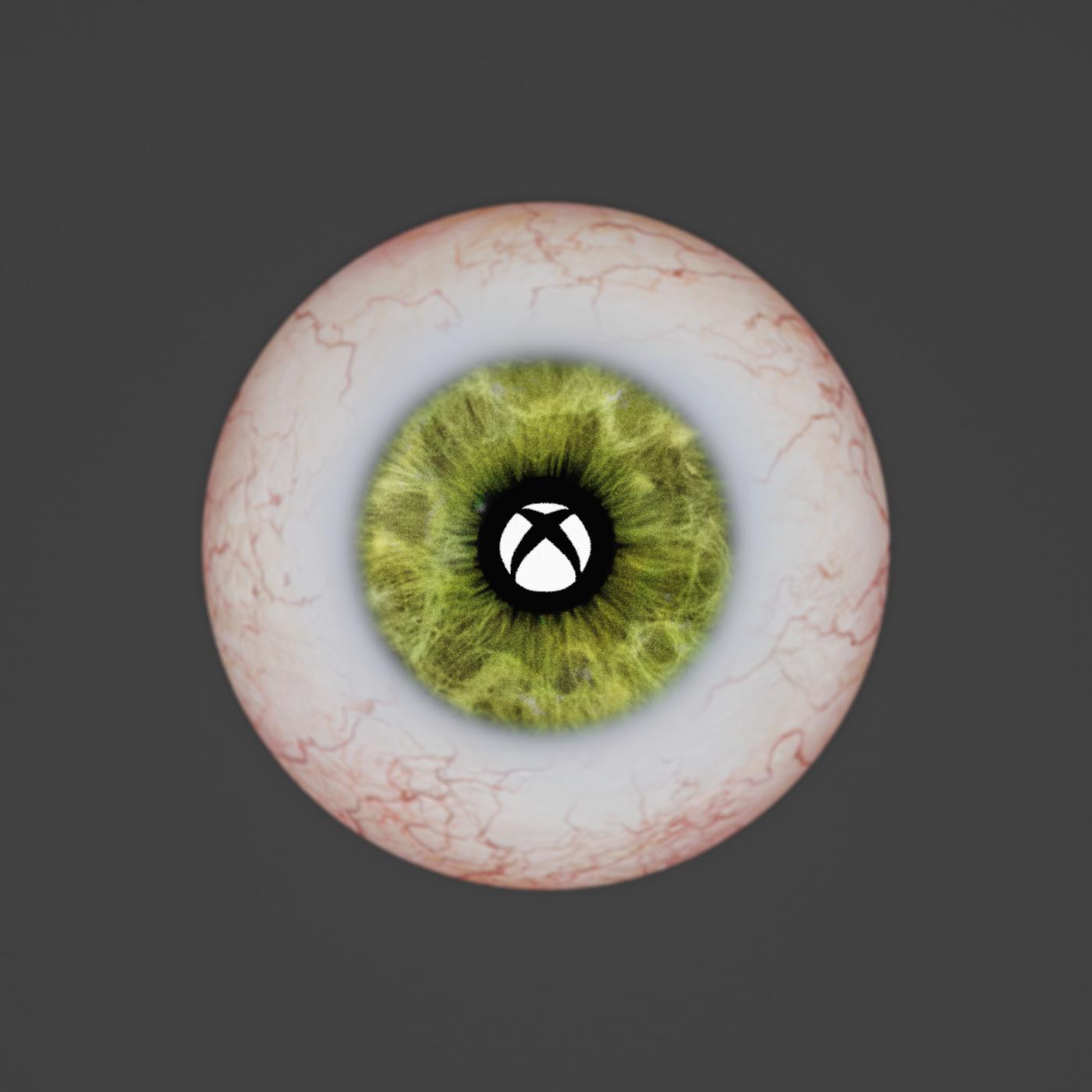 Eye ball with Xbox logo reflection