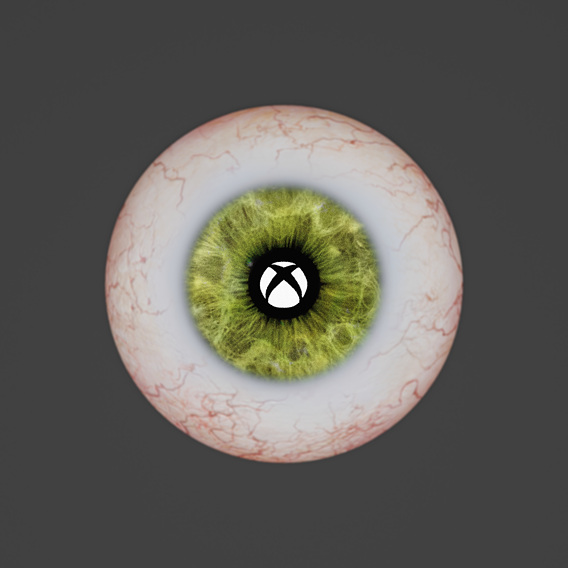 Eye ball with Xbox logo reflection