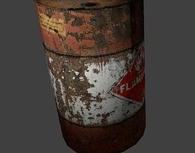 Oil Drum 3D asset