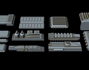 3D model Big greeble collection 2
