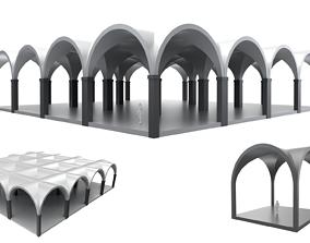 3D Arched Vault Structure Array Architecture Design