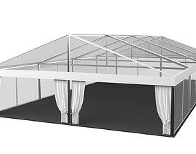 Transparent Marquee wedding tent 3D model
