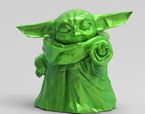 3D printable model babyyoda Low Poly Baby Force