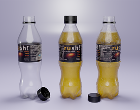 game-ready Plastic Bottle 3D Model - Complete - Low And 1