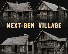 ENTERABLE AAA NEXT GEN MEDIEVAL CITY TOWN HOUSE 3D model 1