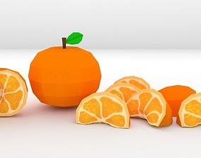 3D asset Low-Poly Orange