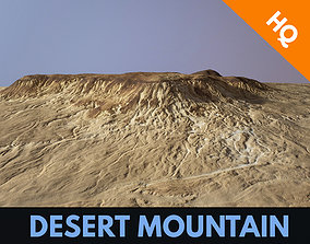 Desert Mountain Africa Landscape DunesPBR Low 3D asset 1