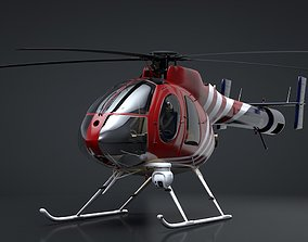 3D model animated MD-520N NOTAR