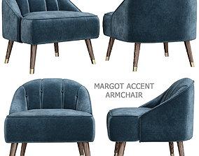 Margot Accent Armchair 3d model low-poly