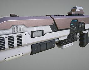 3D asset Laser Rifle Gun PBR