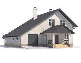 3D model House with attic