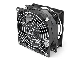 Cooling Fan 120mm with hardware 3D model