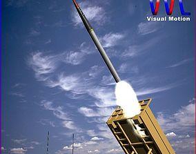 THAAD Missile 3D asset