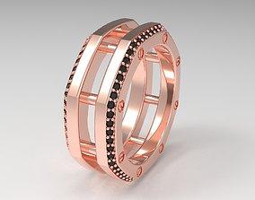 3D printable model Rockford 2 Row With Diamond Rings 2