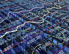 Abstract finance or stock market background 3D