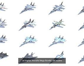 3D model Jet Fighter Aircrafts Mega Bundle