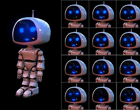 3D model VR / AR ready Rigged Robot