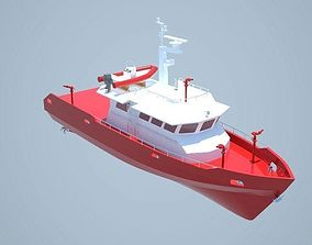 3D Firefighting boat 20m