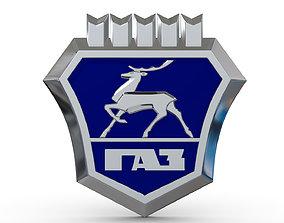 Gaz logo 2 3D